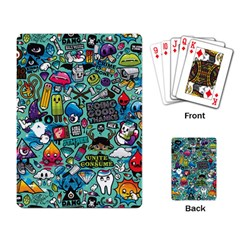 Comics Collage Playing Card