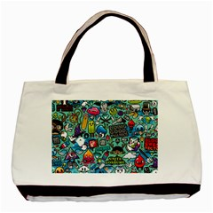 Comics Collage Basic Tote Bag