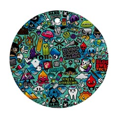 Comics Collage Round Ornament (two Sides)