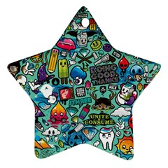 Comics Collage Star Ornament (two Sides)