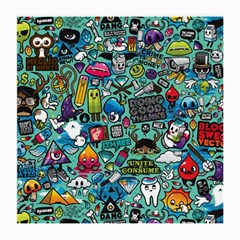 Comics Collage Medium Glasses Cloth