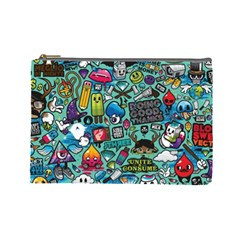 Comics Collage Cosmetic Bag (Large)