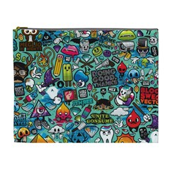 Comics Collage Cosmetic Bag (xl)