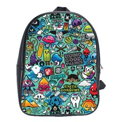 Comics Collage School Bags(Large)