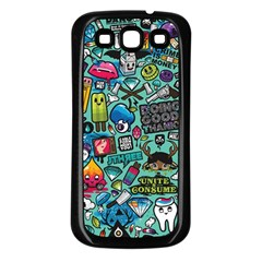 Comics Collage Samsung Galaxy S3 Back Case (black)
