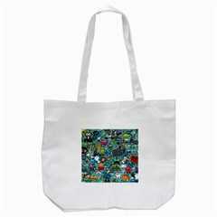 Comics Collage Tote Bag (white)