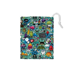 Comics Collage Drawstring Pouches (Small)