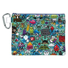 Comics Collage Canvas Cosmetic Bag (XXL)