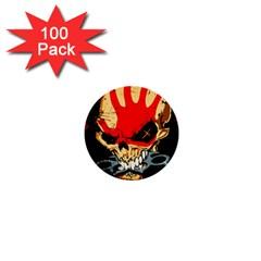 Five Finger Death Punch Heavy Metal Hard Rock Bands Skull Skulls Dark 1  Mini Buttons (100 pack)