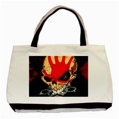 Five Finger Death Punch Heavy Metal Hard Rock Bands Skull Skulls Dark Basic Tote Bag (Two Sides)