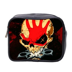 Five Finger Death Punch Heavy Metal Hard Rock Bands Skull Skulls Dark Mini Toiletries Bag 2-Side