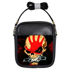 Five Finger Death Punch Heavy Metal Hard Rock Bands Skull Skulls Dark Girls Sling Bags