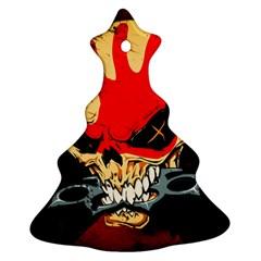 Five Finger Death Punch Heavy Metal Hard Rock Bands Skull Skulls Dark Ornament (Christmas Tree)