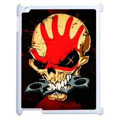 Five Finger Death Punch Heavy Metal Hard Rock Bands Skull Skulls Dark Apple iPad 2 Case (White)