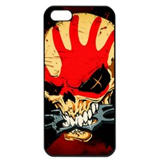Five Finger Death Punch Heavy Metal Hard Rock Bands Skull Skulls Dark Apple iPhone 5 Seamless Case (Black)