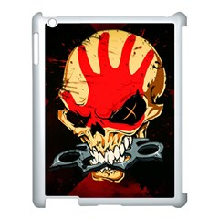 Five Finger Death Punch Heavy Metal Hard Rock Bands Skull Skulls Dark Apple Ipad 3/4 Case (white)
