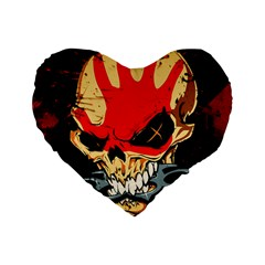 Five Finger Death Punch Heavy Metal Hard Rock Bands Skull Skulls Dark Standard 16  Premium Heart Shape Cushions