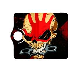 Five Finger Death Punch Heavy Metal Hard Rock Bands Skull Skulls Dark Kindle Fire HDX 8.9  Flip 360 Case