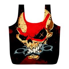 Five Finger Death Punch Heavy Metal Hard Rock Bands Skull Skulls Dark Full Print Recycle Bags (L)