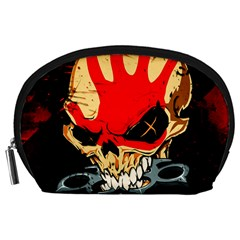 Five Finger Death Punch Heavy Metal Hard Rock Bands Skull Skulls Dark Accessory Pouches (large)