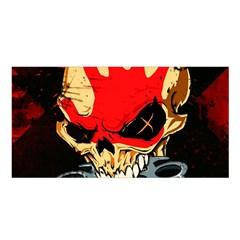 Five Finger Death Punch Heavy Metal Hard Rock Bands Skull Skulls Dark Satin Shawl