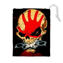 Five Finger Death Punch Heavy Metal Hard Rock Bands Skull Skulls Dark Drawstring Pouches (Extra Large)