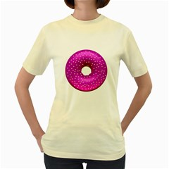 Donut Transparent Clip Art Women s Yellow T Shirt