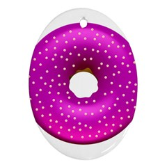 Donut Transparent Clip Art Oval Ornament (Two Sides)