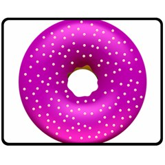 Donut Transparent Clip Art Fleece Blanket (medium)