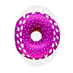 Donut Transparent Clip Art Oval Filigree Ornament (Two Sides)