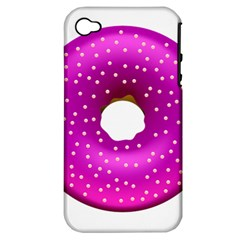 Donut Transparent Clip Art Apple iPhone 4/4S Hardshell Case (PC+Silicone)