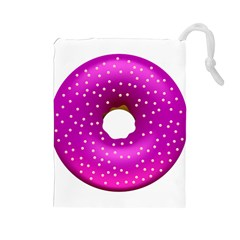 Donut Transparent Clip Art Drawstring Pouches (large)