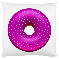 Donut Transparent Clip Art Large Flano Cushion Case (One Side)