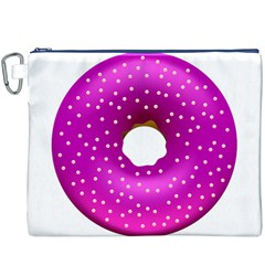 Donut Transparent Clip Art Canvas Cosmetic Bag (XXXL)