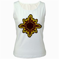 Disturbed Is An American Heavy Metal Band Logo Women s White Tank Top