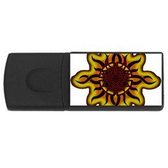Disturbed Is An American Heavy Metal Band Logo USB Flash Drive Rectangular (2 GB)