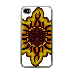 Disturbed Is An American Heavy Metal Band Logo Apple iPhone 4 Case (Clear)