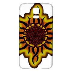 Disturbed Is An American Heavy Metal Band Logo Samsung Galaxy S5 Back Case (white)