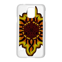 Disturbed Is An American Heavy Metal Band Logo Samsung Galaxy S5 Case (White)