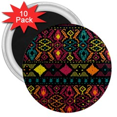 Ethnic Pattern 3  Magnets (10 pack)