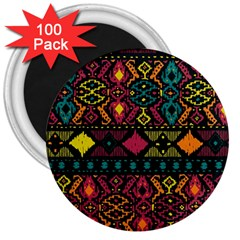 Ethnic Pattern 3  Magnets (100 pack)