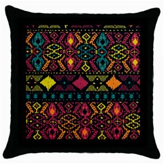 Ethnic Pattern Throw Pillow Case (black)