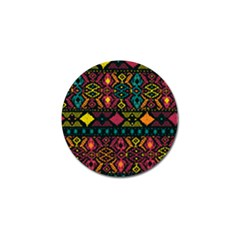 Ethnic Pattern Golf Ball Marker (4 pack)