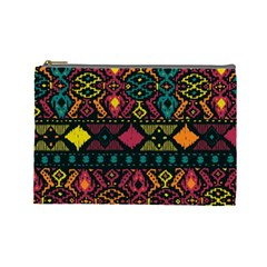 Ethnic Pattern Cosmetic Bag (Large)