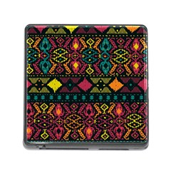 Ethnic Pattern Memory Card Reader (square)