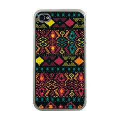 Ethnic Pattern Apple iPhone 4 Case (Clear)