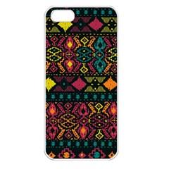Ethnic Pattern Apple iPhone 5 Seamless Case (White)