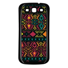 Ethnic Pattern Samsung Galaxy S3 Back Case (Black)