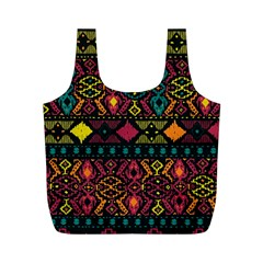 Ethnic Pattern Full Print Recycle Bags (m)