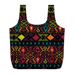 Ethnic Pattern Full Print Recycle Bags (L)